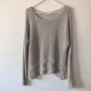 Abercrombie & Fitch Beige Knit Sweater